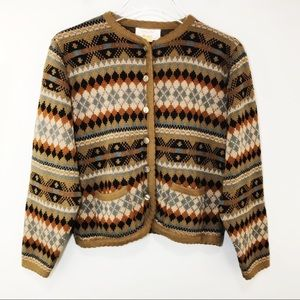 COPY - Vintage Tally Ho Cardigan Sweater Brown No…